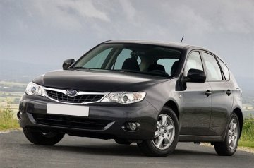 Subaru Impreza car for hire in Paphos Cyprus