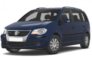 VW touran car for hire in Paphos Cyprus